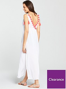 v-by-very-pom-pom-back-beach-maxi-dress