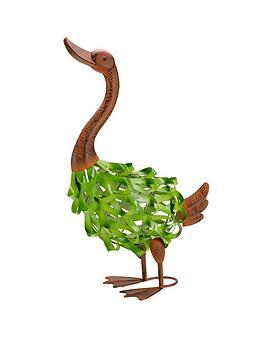 metal-gertienbspgoose-garden-ornament