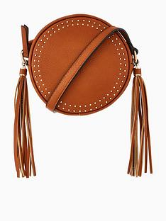 v-by-very-stud-tassel-round-crossbody-bag-tan