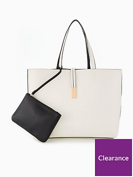 v-by-very-reversible-contrast-shopper-whiteblack