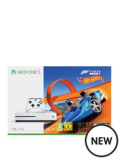 xbox-one-s-1tbnbspconsole-with-forza-horizon-3-hot-wheelsnbspplus-optional-extra-controller-and-12-months-xbox-live