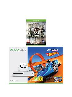 xbox-one-s-1tbnbspconsole-with-forza-horizon-3-hot-wheels-and-for-honor-plus-optional-extra-wireless-controller-andor-12-months-live-gold