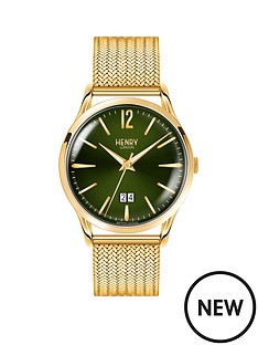 henry-london-chiswick-green-dial-gold-bracelet-mens-watch