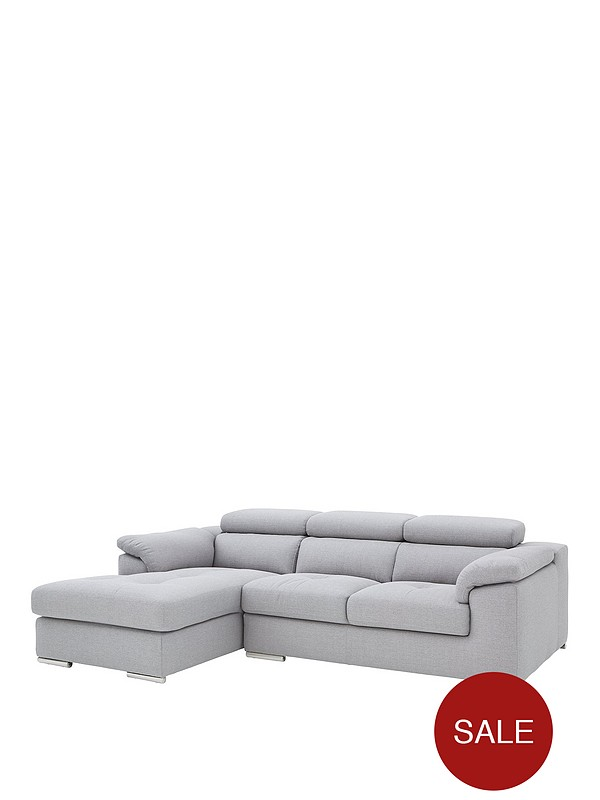 Brady 3 Seater Left Hand Fabric Corner Chaise Sofa