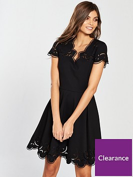 ted-baker-saloane-v-neck-embroidered-skater-dress