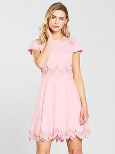 ted-baker-rehanna-embroidered-cap-skater-dress-pink