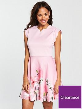 72857a030c40 Ted Baker Grettae Printed Skater Dress - Pink