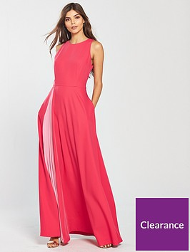ted-baker-madizon-contrast-pleat-maxi-dress-deep-pink