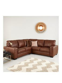 Very Hampshire Premium Leather Corner Group Sofa Picture