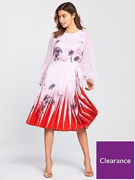 5e0671bfe4 Ted Baker Prticha Lake Of Dreams Pleated Dress - Dusky Pink ...