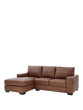 Very Hampshire 3 Seater Left Hand Premium Leather Corner Chaise Sofa Picture