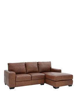 Very Hampshire 3 Seater Right Hand Premium Leather Corner Chaise Sofa Picture