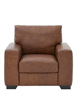 Very Hampshire Italian Leather Armchair Picture