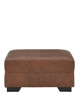 Very Hampshire Premium Leather Footstool Picture