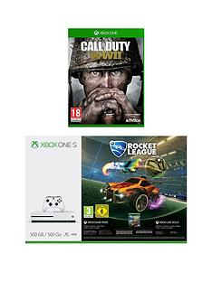 xbox-one-s-s-500gbnbspconsole-with-rocket-league-and-call-of-duty-world-war-iinbspplus-optional-extra-wireless-controller-andor-12-months-live-gold