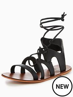 warehouse-warehouse-leather-gladiator-sandal