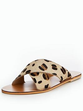 warehouse-leather-cross-over-sliders-ndash-leopard-print