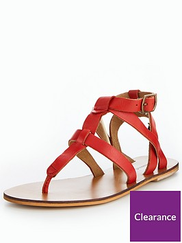 warehouse-leather-toe-post-t-bar-sandal-red