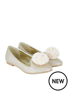 monsoon-crafty-metallic-pom-pom-ballerina