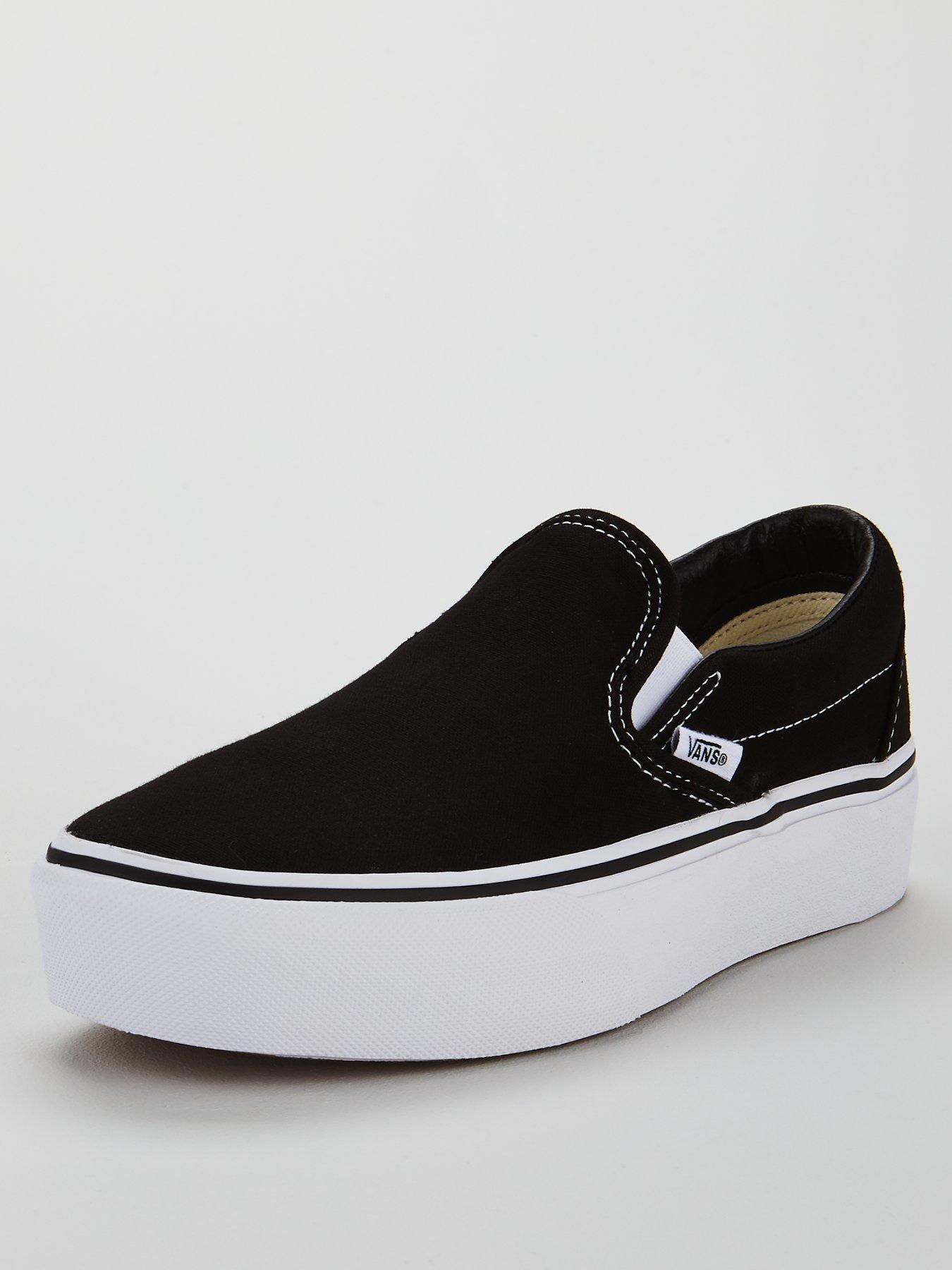womens slip on black vans