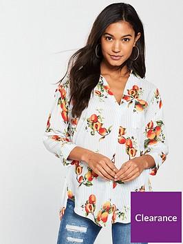 river-island-river-island-lace-up-back-peach-print-blouse--stripe