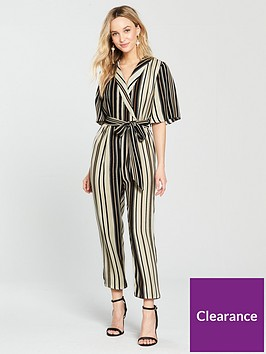 river-island-stripe-jumpsuit--black
