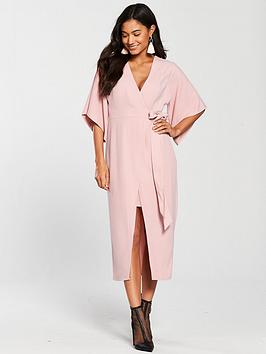 river-island-wrap-front-midi-dress--pink