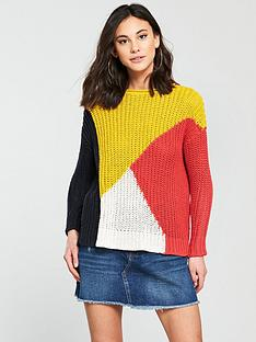 river-island-block-jumper--multi