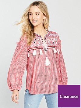river-island-printed-smock-blouse-red