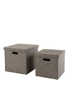 ideal-home-set-of-2-grey-lidded-storage-boxes