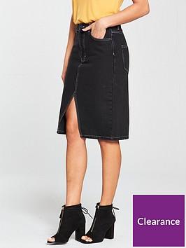 v-by-very-denim-contrast-stitch-skirt