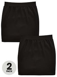 v-by-very-girls-2-pack-tube-school-skirt-black