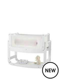 snuz-snuzpod2-3-in-1-bedside-crib-with-mattress-echo-white