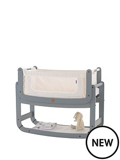 snuz-snuzpod2-3-in-1-bedside-crib-with-mattress-dove-grey