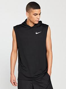 abc252c645c49a Nike Dry Sleeveless Running Hoodie