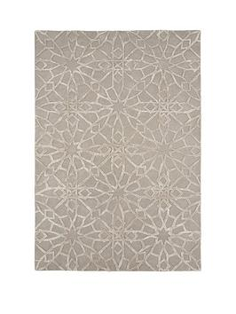 michelle-keegan-home-mirage-100-wool-rug-grey