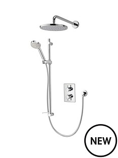 aqualisa-dream-dual-control-valve-mixer-shower-with-adjustable-head-and-fixed-drencher-head