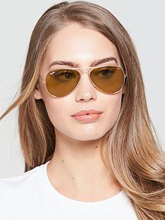 ray-ban-large-aviator-sunglasses-brown