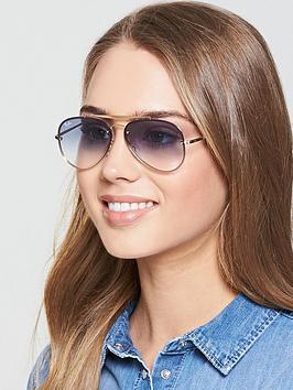 91ad1173f Ray-Ban Highstreet Sunglasses - Clear Gradient Light Blue ...