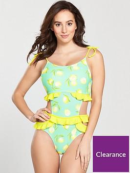 vero-moda-yucca-frill-cut-out-swimsuit-lemon-print