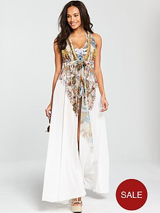 forever-unique-fang-gold-chain-print-maxi-cover-up-white