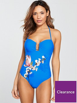 ted-baker-delcela-u-trim-swimsuit-blue