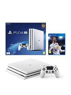 playstation-4-pro-pro-1tbnbspwhite-console-with-fifa-18-and-optional-extra-controller-andor-12-months-playstation-network
