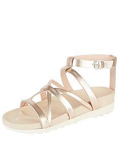kickers-karah-leather-strap-flat-sandal-rose-gold