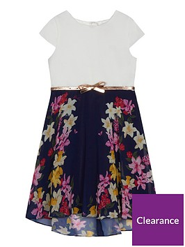 baker-by-ted-baker-girls039-navy-floral-print-belted-dress