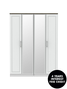 swift-regent-partnbspassembled-4-door-mirrored-wardrobe