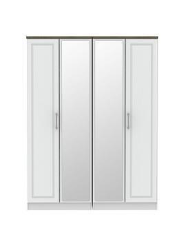 Swift Swift Regent Part Assembled 4 Door Mirrored Wardrobe Picture