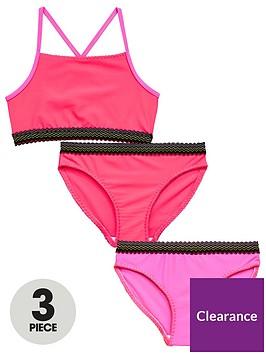 v-by-very-3-piece-girls-elastic-trim-bikini-set-neon