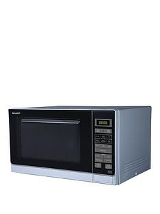 sharp-r372slm-25l-900w-compact-solo-microwave-silver