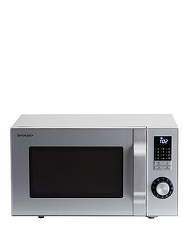sharp-r244slm-23l-800w-solo-microwave-silver